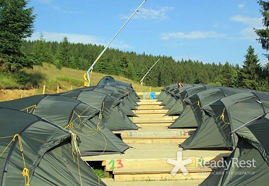 ЛАГЕРЬ ОЗЕРНЫЙ <br>(4-местные палатки)